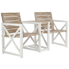Buy Safavieh Jovanna 2 Seat Bench in White Frame & Oak Seat on sale online