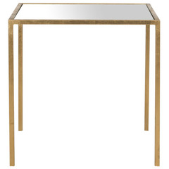 Buy Safavieh Kiley 18x18 Square Accent Table in Gold w/Mirror Top on sale online