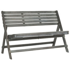 Buy Safavieh Luca Folding 25 Inch Bench in Ash Grey on sale online