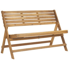 Buy Safavieh Luca Folding 25 Inch Bench in Natural Brown on sale online