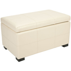 Buy Safavieh Madison Storage Bench Small in Flat Cream on sale online