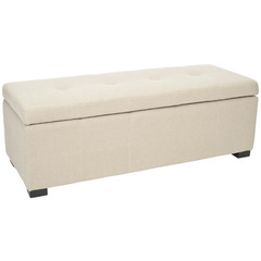 Buy Safavieh Maiden Tufted Storage Bench Large in Taupe on sale online