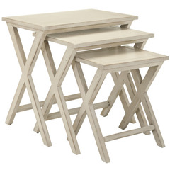 Buy Safavieh 24x17 Maryann Stacking Tray Tables in White Washed on sale online