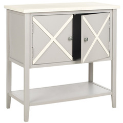 Buy Safavieh Polly 29x14 Sideboard in Grey & White on sale online