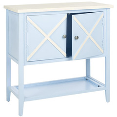 Buy Safavieh Polly 29x14 Sideboard in Light Blue & White on sale online