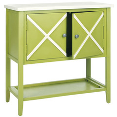 Buy Safavieh Polly 29x14 Sideboard in Lime Green & White on sale online
