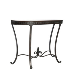 Buy Safavieh Richard Demilune 36x16 Console in Brown & Copper on sale online