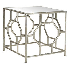 Buy Safavieh Rory 19x19 Square Accent Table in Silver w/Mirror Top on sale online