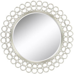 Buy Cooper Classics Salina 42 Inch Round Mirror in Silver on sale online