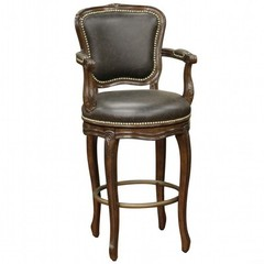 Buy American Heritage Salvatore 26 Inch Counter Height Stool in Buckeye and Roma Leather on sale online