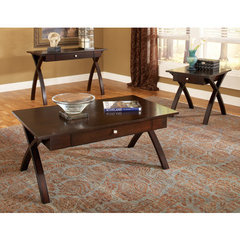 Buy Steve Silver San Paulo 3 Piece Occasional Table Set in Rich Dark Cherry on sale online