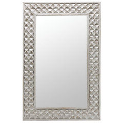 Buy Cooper Classics Sanford 47x31 Mirror in Aged Gray on sale online