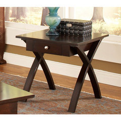 Buy Steve Silver Sao Paulo 26x24 End Table in Rich Dark Cherry on sale online