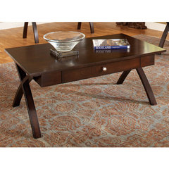 Buy Steve Silver Sao Paulo 48x28 Cocktail Table in Rich Dark Cherry on sale online