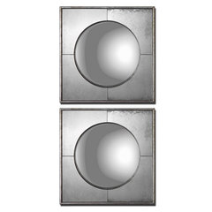 Buy Uttermost Savio Squares 15 Inch Square Wall Mirror (Set of 2) on sale online