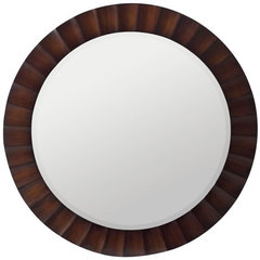 Buy Cooper Classics Savona 36 Inch Round Mirror in Washed Brown on sale online