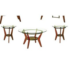 Buy Steve Silver Saxony 3 Piece Occasional Table Set in Cherry on sale online
