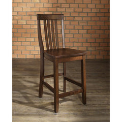 Buy Crosley Furniture School House 24 Inch Barstool in Vintage Mahogany on sale online