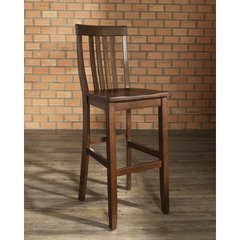 Buy Crosley Furniture School House 30 Inch Barstool in Mahogany on sale online