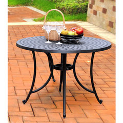 Buy Crosley Furniture Sedona 42 Inch Cast Aluminum Dining Table in Charcoal Black on sale online