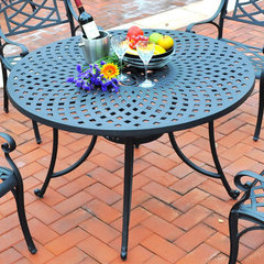Buy Crosley Furniture Sedona 48 Inch Cast Aluminum Dining Table in Charcoal Black on sale online