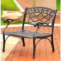 Buy Crosley Furniture Sedona Cast Aluminum Club Chair in Charcoal Black on sale online