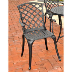Buy Crosley Furniture Sedona Cast Aluminum High Back Arm Chair in Charcoal Black (Set of 2) on sale online