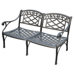 Buy Crosley Furniture Sedona Cast Aluminum Loveseat in Charcoal Black on sale online