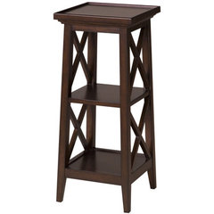Buy Cooper Classics Seneca Lake 30 Inch Pedestal in Tobacco on sale online