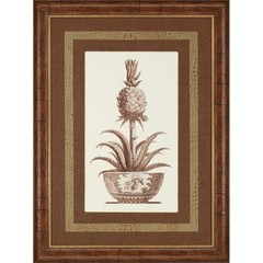 Buy Paragon Sepia Potted Pineapple II 34x46 Framed Wall Art  on sale online