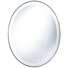Buy Cooper Classics Seymour 28x22 Oval Mirror in Mocha on sale online