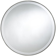 Buy Cooper Classics Seymour 29 Inch Round Mirror in Mocha on sale online