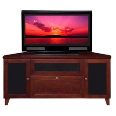 Buy Furnitech Shaker 61 inch Corner Media Console in Dark Cherry on sale online