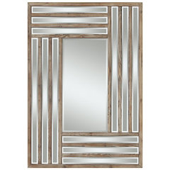 Buy Cooper Classics Shelby 42x30 Mirror in Light Natural Rustic Wood on sale online