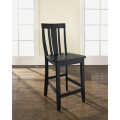 Buy Crosley Furniture Shield Back 24 Inch Barstool in Black on sale online