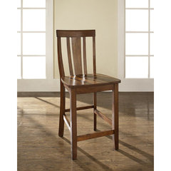 Buy Crosley Furniture Shield Back 24 Inch Barstool in Classic Cherry on sale online