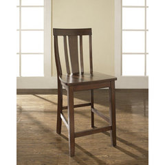Buy Crosley Furniture Shield Back 24 Inch Barstool in Vintage Mahogany on sale online