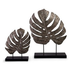 Buy IMAX Worldwide Silver Antiqued Leaves (Set of 2) on sale online