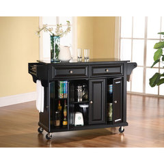 Buy Crosley Furniture Solid Black Granite Top Kitchen Cart/Island in Black on sale online
