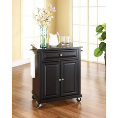 Buy Crosley Furniture 28x18 Solid Black Granite Top Portable Kitchen Cart/Island in Black on sale online