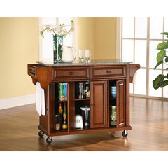 Buy Crosley Furniture 52x18 Solid Granite Top Kitchen Cart/Island in Classic Cherry on sale online