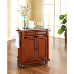 Buy Crosley Furniture 28x18 Solid Granite Top Portable Kitchen Cart/Island in Classic Cherry on sale online