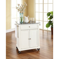 Buy Crosley Furniture 28x18 Solid Granite Top Portable Kitchen Cart/Island in White on sale online