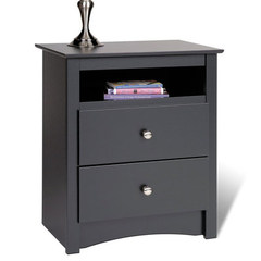 Buy Prepac Sonoma 2 Drawer Tall Nightstand with Open Cubbie on sale online