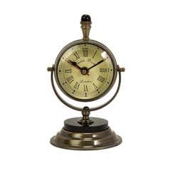 Buy IMAX Worldwide Soren Brass Table Clock on sale online