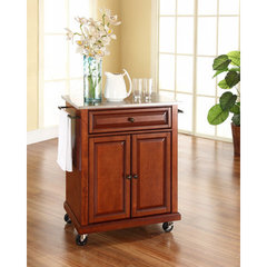 Buy Crosley Furniture 28x18 Stainless Steel Top Portable Kitchen Cart/Island in Classic Cherry on sale online