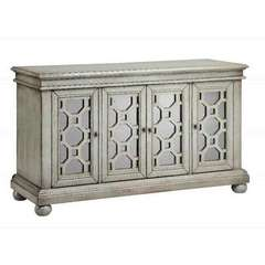 Buy Stein World Adelind Cabinet w/ 4 Doors in Brushed Graystone on sale online
