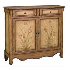 Buy Stein World Breahna Cabinet in Honey Brown and Aged Cream on sale online