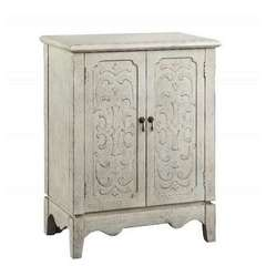 Buy Stein World Cora Cabinet w/ 2 Doors in Aged Parchment on sale online