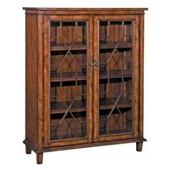 Buy Stein World Hanover Chippendale Cabinet w/ 2 Doors in Rich Oak on sale online